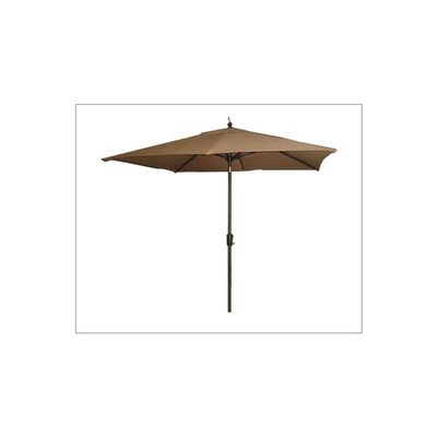 Tan Rectangular Market Umbrella