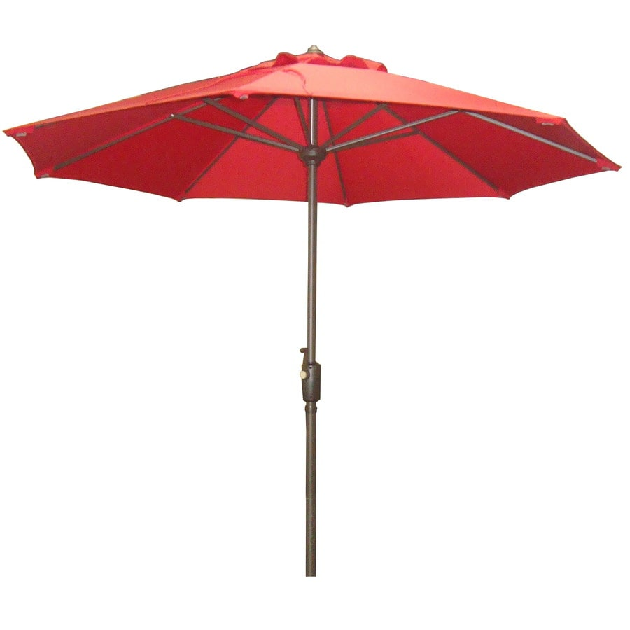 Nice Garden Treasures 7 Ft 6 In Red Round Patio Umbrella