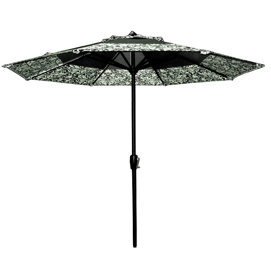 Garden Treasures 8-ft 10-in Black Round Market Umbrella