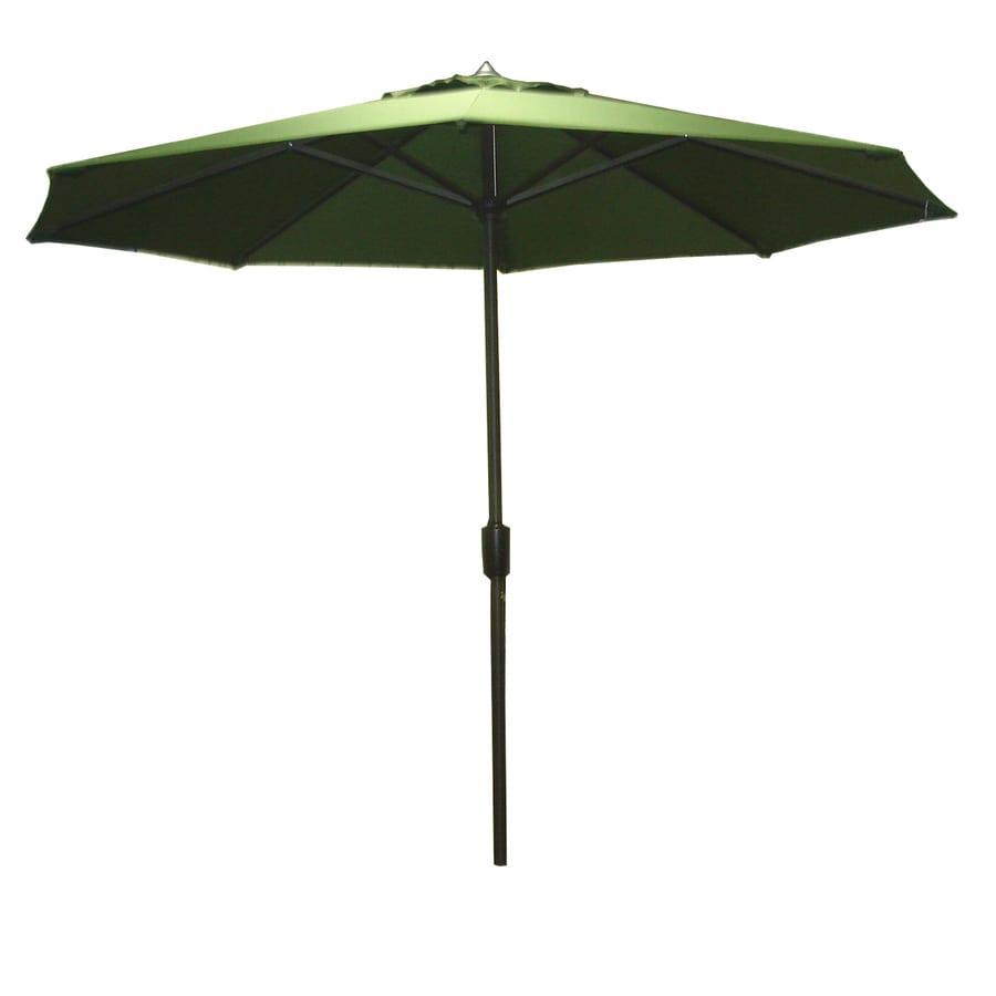 Garden Treasures 8-ft 10-in Green Round Market Umbrella