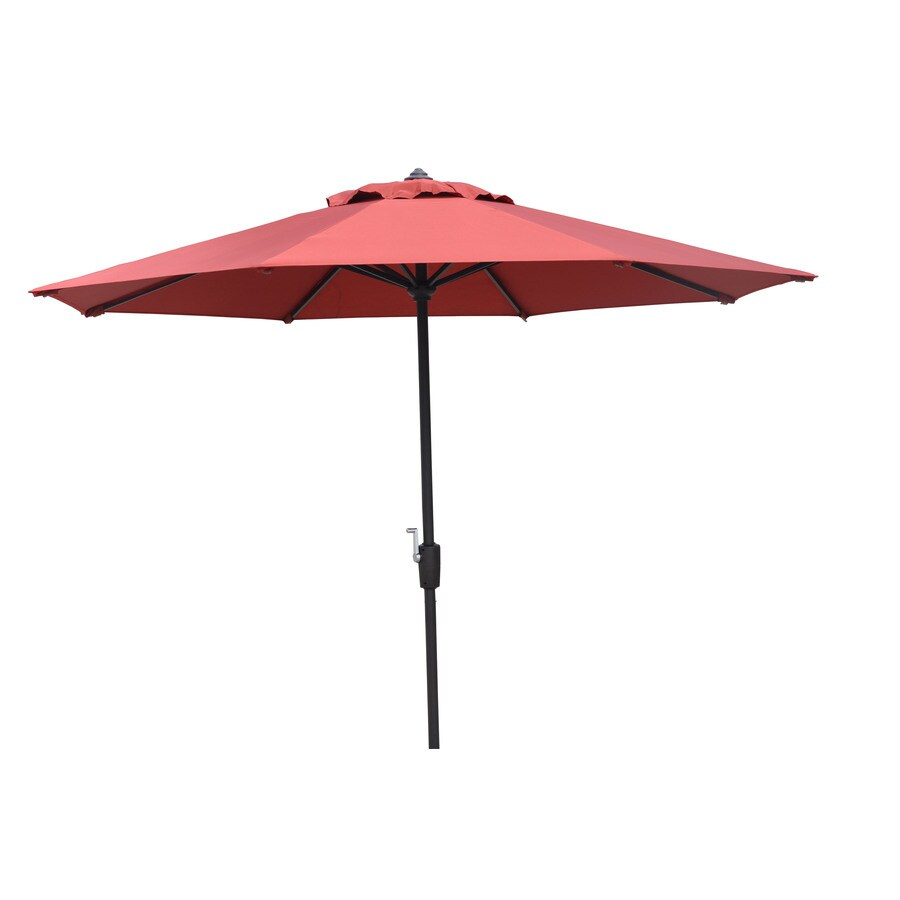 Garden Treasures 8-ft 10-in Red Round Market Umbrella