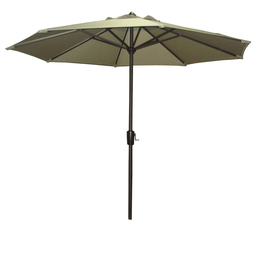 Garden Treasures 8-ft 10-in Taupe Round Market Umbrella