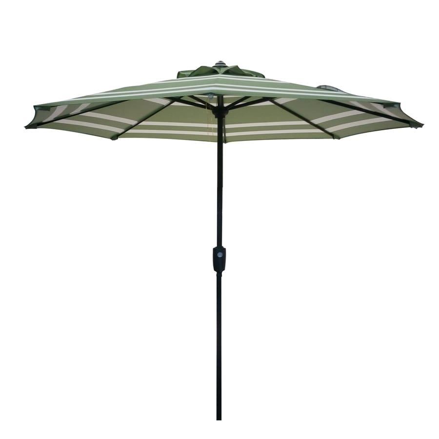 Lowes Patio Furniture With Umbrella: Shop Garden Treasures Market Patio Umbrella (Common: 7.5