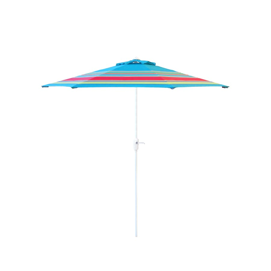 Garden Treasures Market Patio Umbrella (Common: 7.5-ft W x 7.5-ft L; Actual: 7.5-ft W x 7.5-ft L)