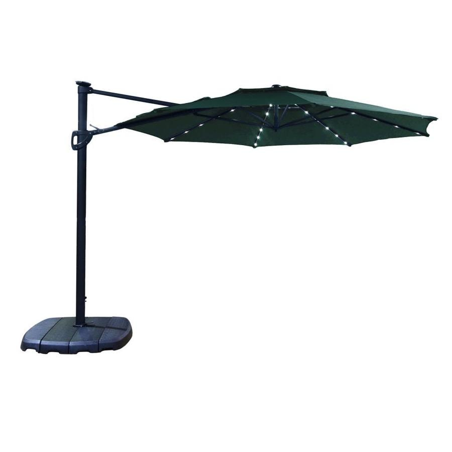 Simply Shade Forest Offset 11 Ft Patio Umbrella With Base