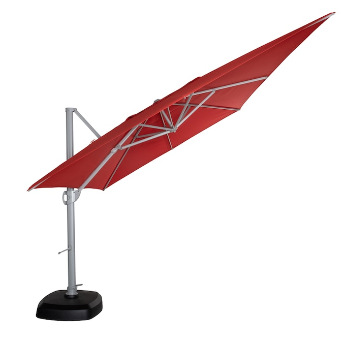 Simply Shade Red Offset 12 Ft Push