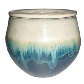 Garden Treasures 4.72 In X 5.12 In Teal Cream Ceramic Self Watering Planter