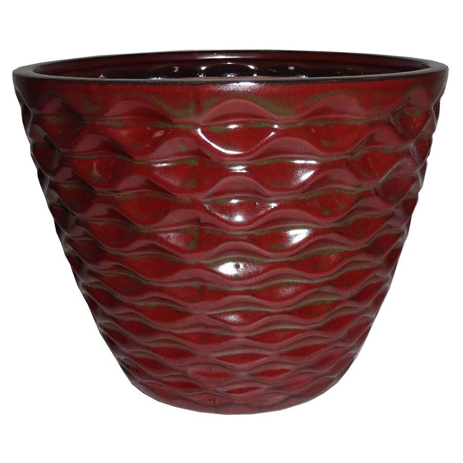 Garden Treasures 7.28-in x 6.69-in Copper Ceramic Planter