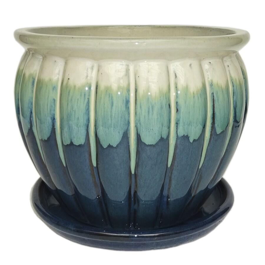 Garden Treasures 10 63 In W X 10 24 In H Ceramic Round