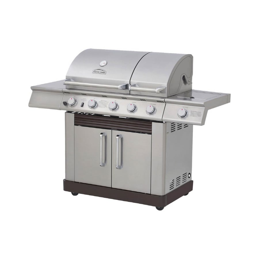 Shop Master Forge Stainless Steel Split Lid Gas Grill At