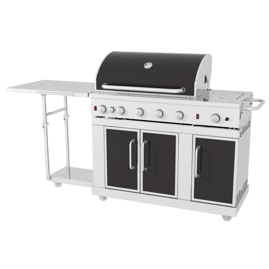 Master Forge 5-Burner (60,000-BTU) Natural Gas or Liquid Propane Gas Grill with Rotisserie Burner