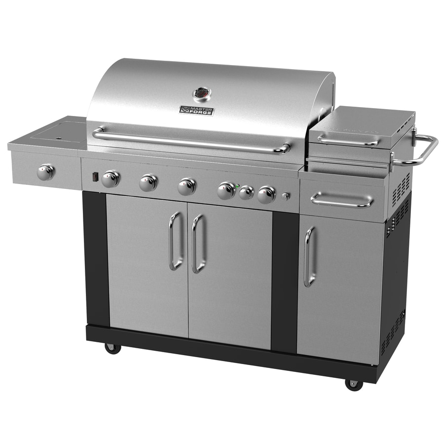 fascinating Master Forge Grill Company Part - 6: Master Forge New Outdoor Kitchen 5-Burner Both Gas Grill with 1 Side Burner