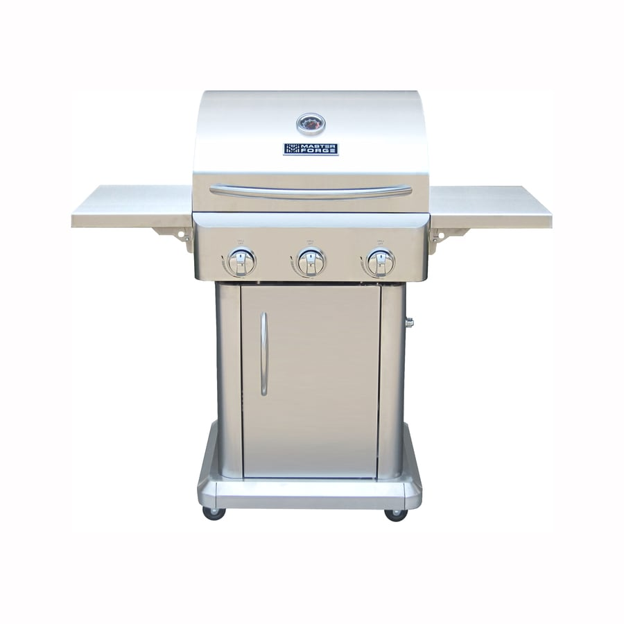 wonderful Master Forge Grill Company Part - 8: Master Forge Outdoor Grill Stainless Steel 3-Burner (36,000-BTU) Liquid  Propane