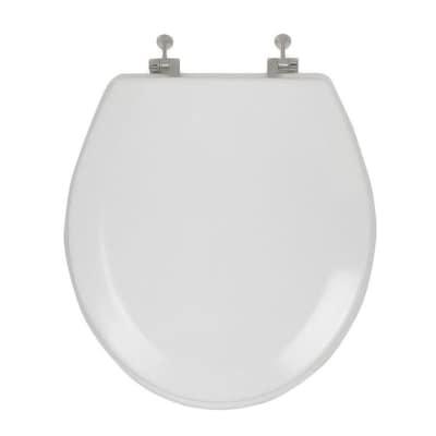 Amazing Aquasource Wood Round Toilet Seat At Lowes Com Inzonedesignstudio Interior Chair Design Inzonedesignstudiocom