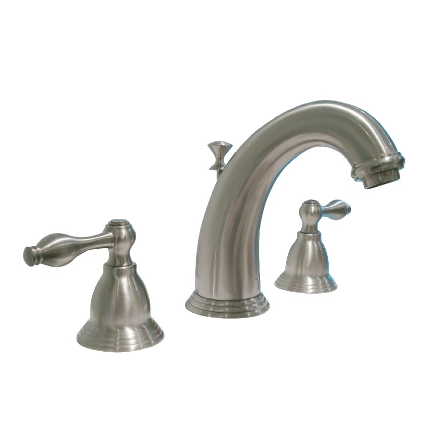 aquasource 2 handle watersense bathroom faucet drain included - Bathroom Faucets Lowes