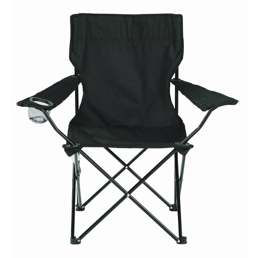 Shop Garden Treasures Black Steel Chair at Lowes.com