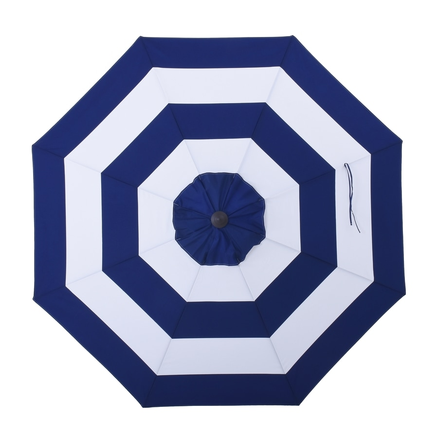Allen + Roth Navy Awning Market 9 Ft Patio Umbrella