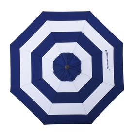 Allen + Roth Navy Awning Market Patio Umbrella (Common: 9 Ft W X
