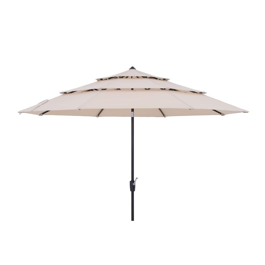 Simplyshade 11 Ft Tan Auto Tilt Market Patio Umbrella In The Patio Umbrellas Department At Lowes Com