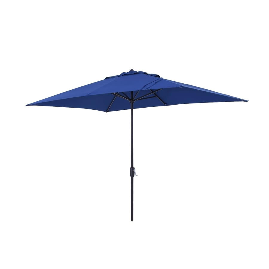 Simply Shade Blue Market 7 Ft W X 10.5 Ft L Patio Umbrella