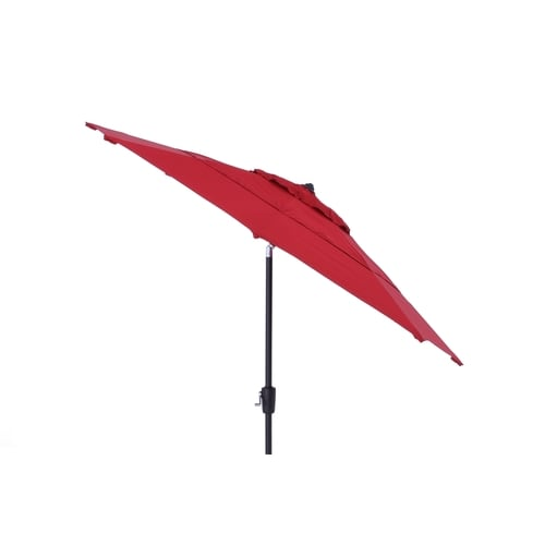 Simply Shade Red Market 9 Ft Auto Tilt Round Patio