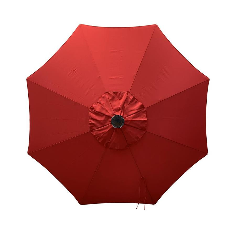 Simply Shade Red Market Pre Lit 9 Ft Patio Umbrella