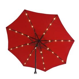Simply Shade Red Market Pre-lit 9-ft Patio Umbrella