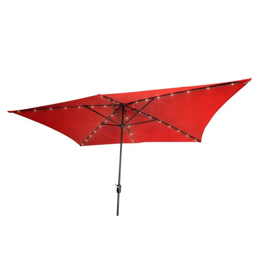 Simply Shade Red Market Pre Lit 7 Ft Rectangular Patio