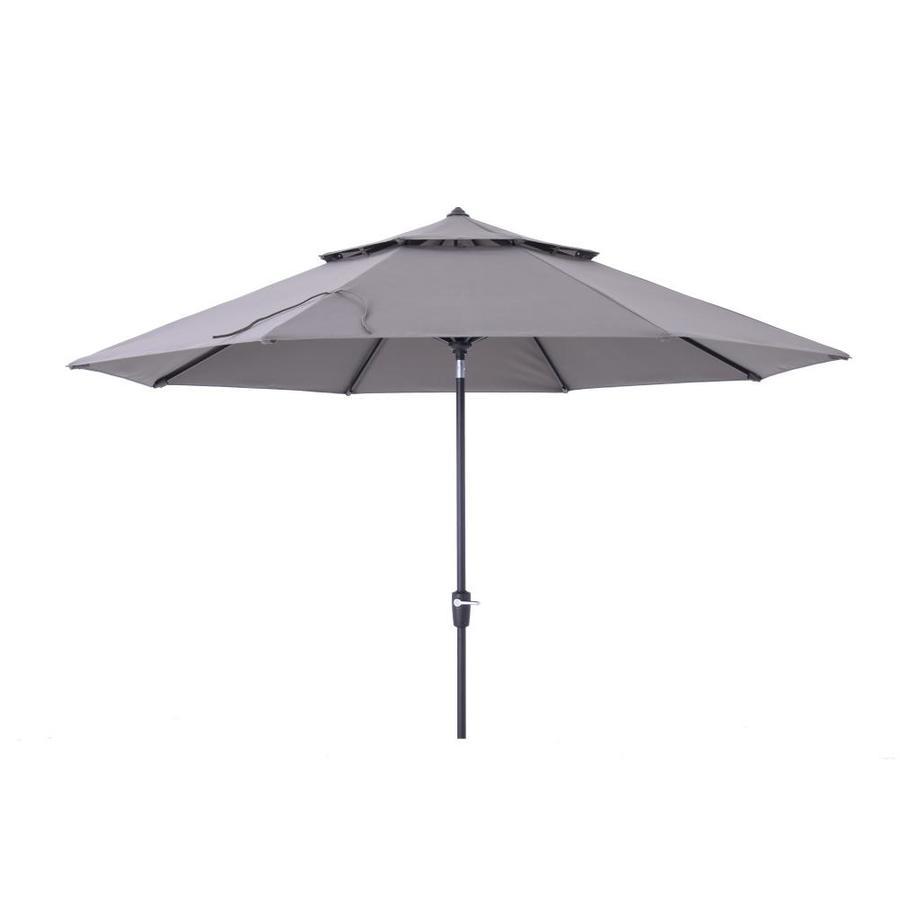 Simply Shade Gray Market 11 Ft Patio Umbrella