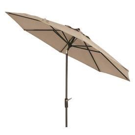 Simply Shade Khaki Market 9 Ft Patio Umbrella