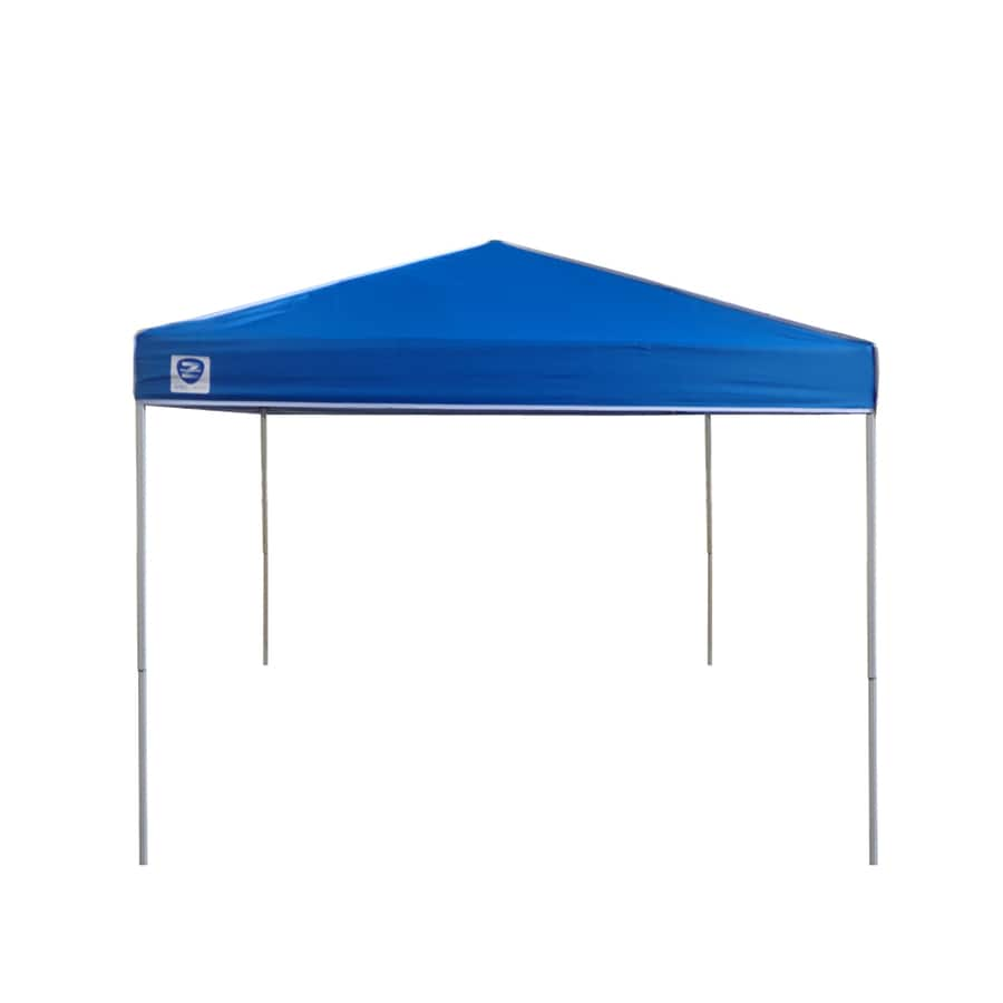 Shop Z-Shade 8-ft W x 10-ft L Rectangle White Steel Pop-Up ...