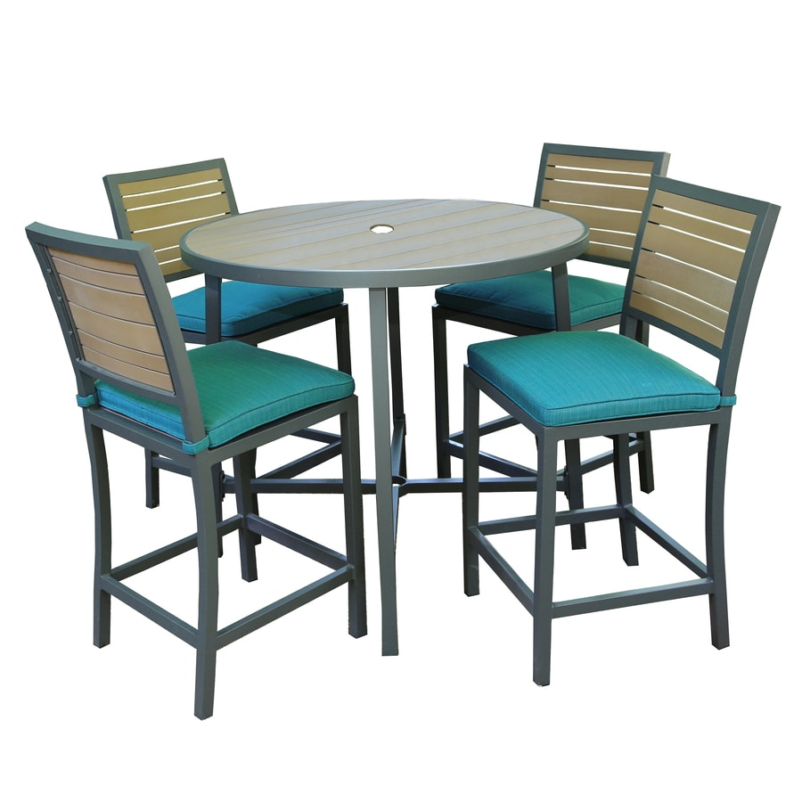 Shop ae outdoor composite material patio dining set at for Best material for outdoor furniture