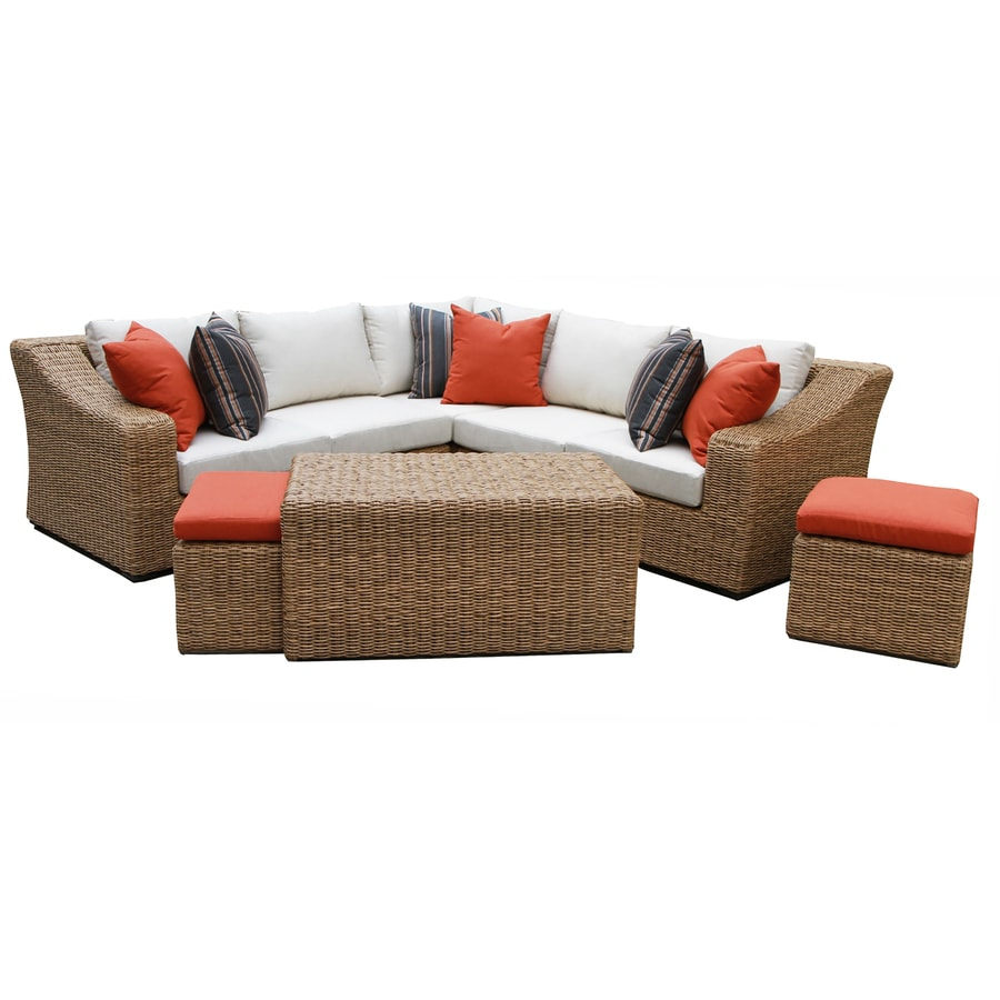 Shop AE Outdoor Arizona 8-Piece Resin Frame Patio Conversation Set ...
