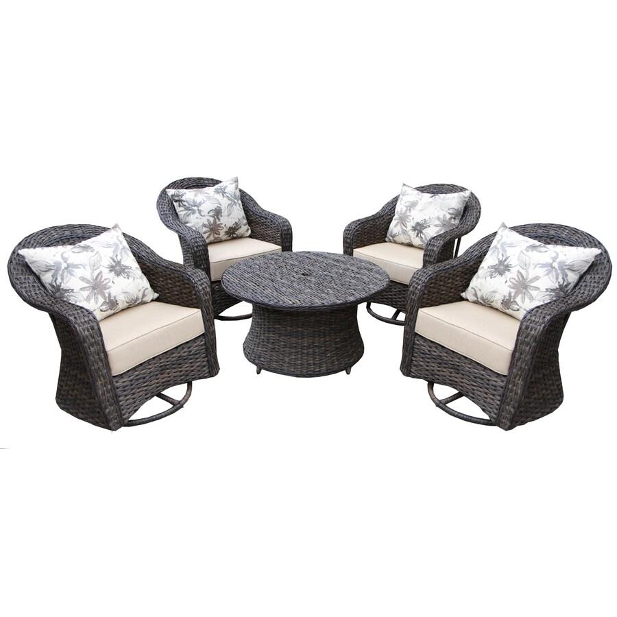 shop ae outdoor 5 resin patio conversation set at