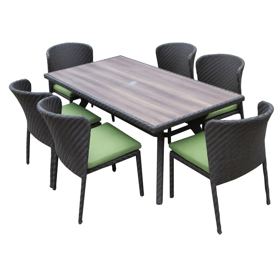 AE Outdoor Elaine 7-Piece Gray Composite Material Patio Dining Set
