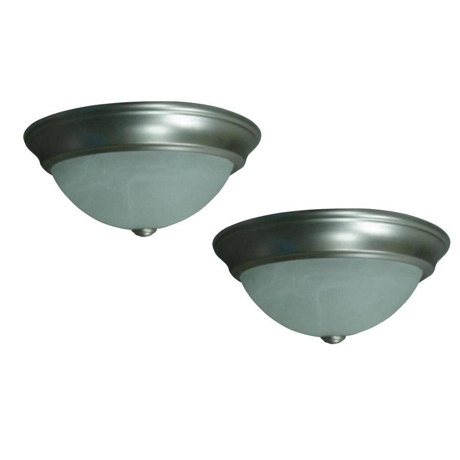 Portfolio 2 Light Brushed Nickel Ceiling Flushmount