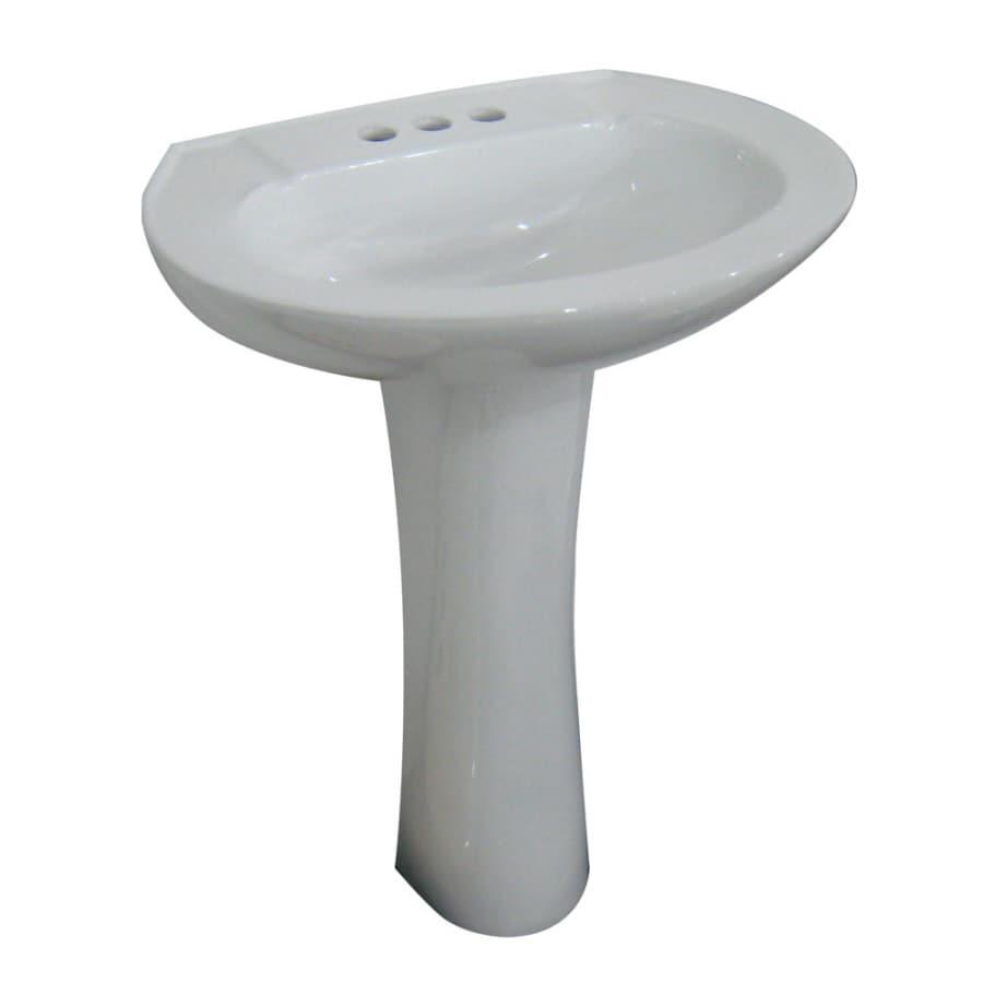 AquaSource White Complete Pedestal Sink