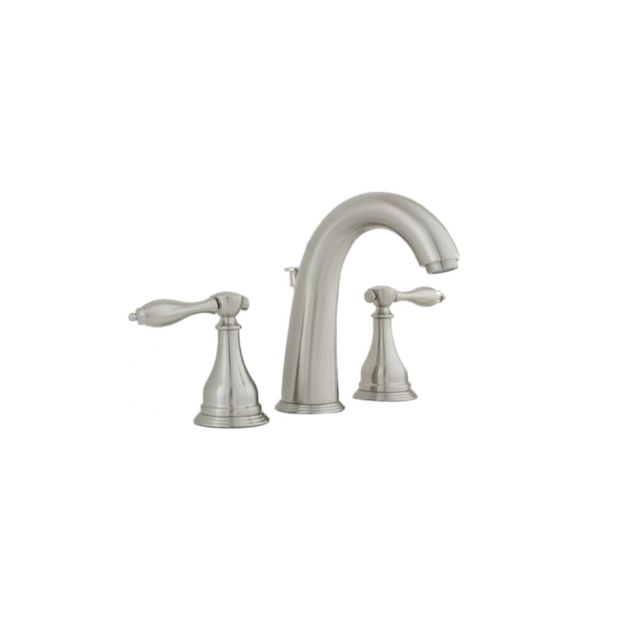 AquaSource Creation Suites Brushed Nickel 2-Handle Widespread WaterSense Bathroom Faucet (Drain Included)