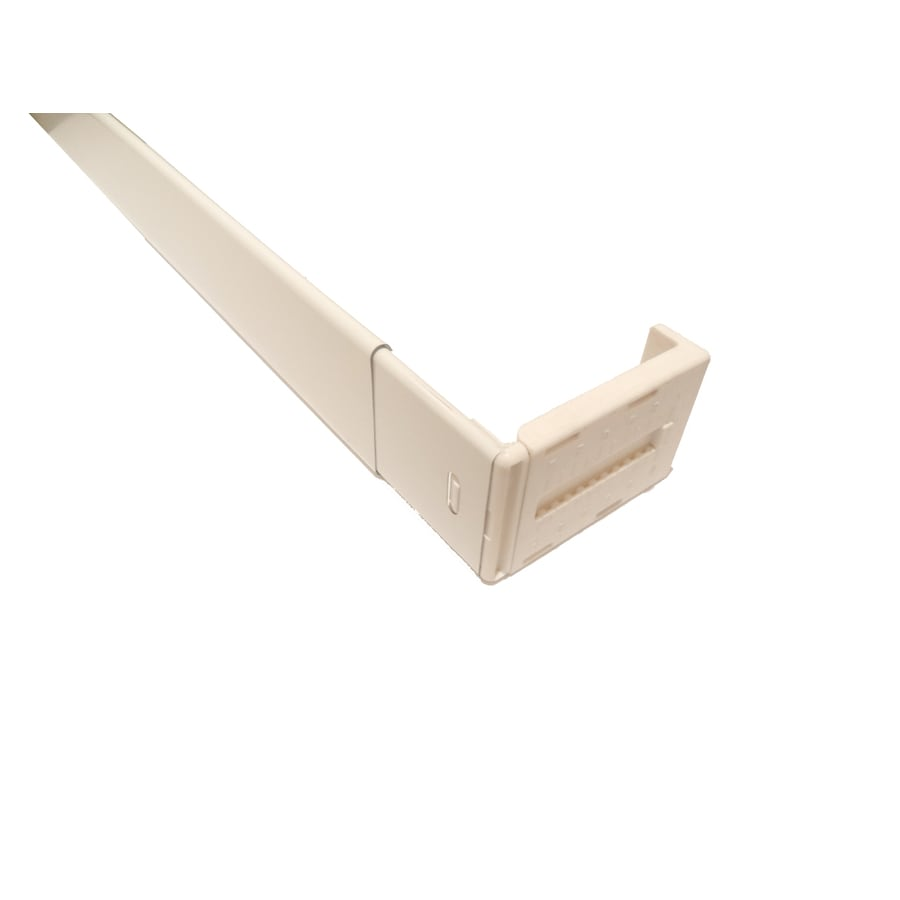 Project Source 28-in to 48-in White Steel Wide-Pocket Curtain Rod