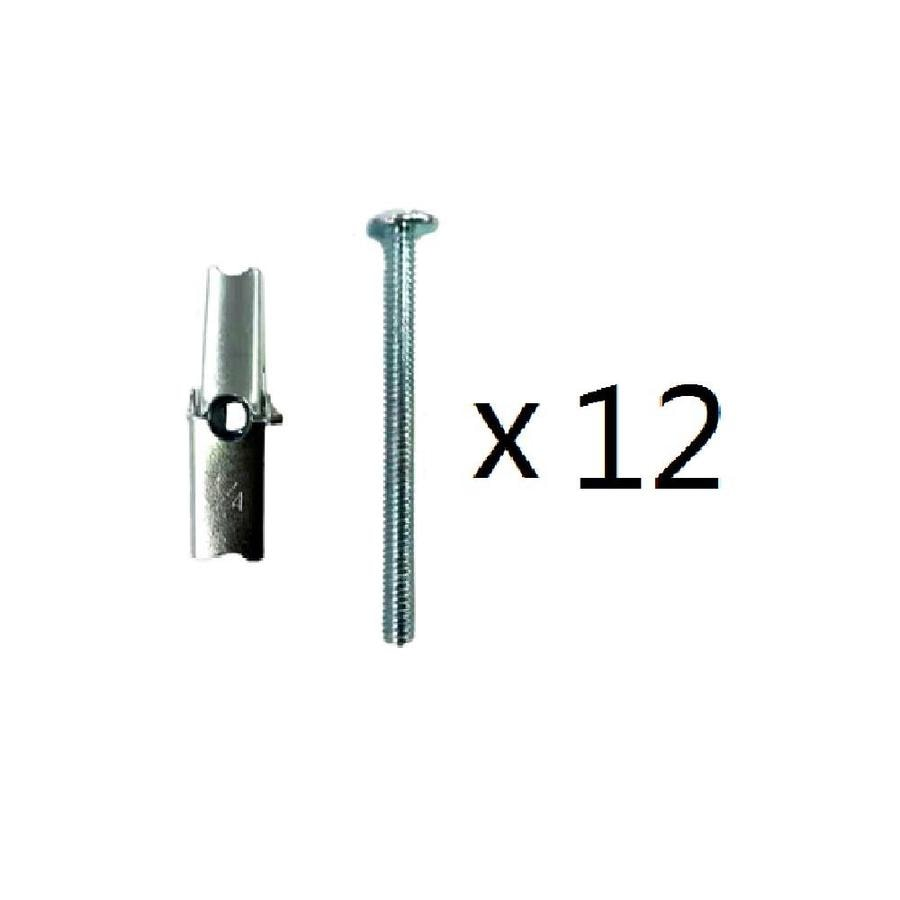 Blue Hawk 12-Pack 3-in x 0.25-in Zinc-Plated Steel Light-Duty All-Purpose Anchor with Screws