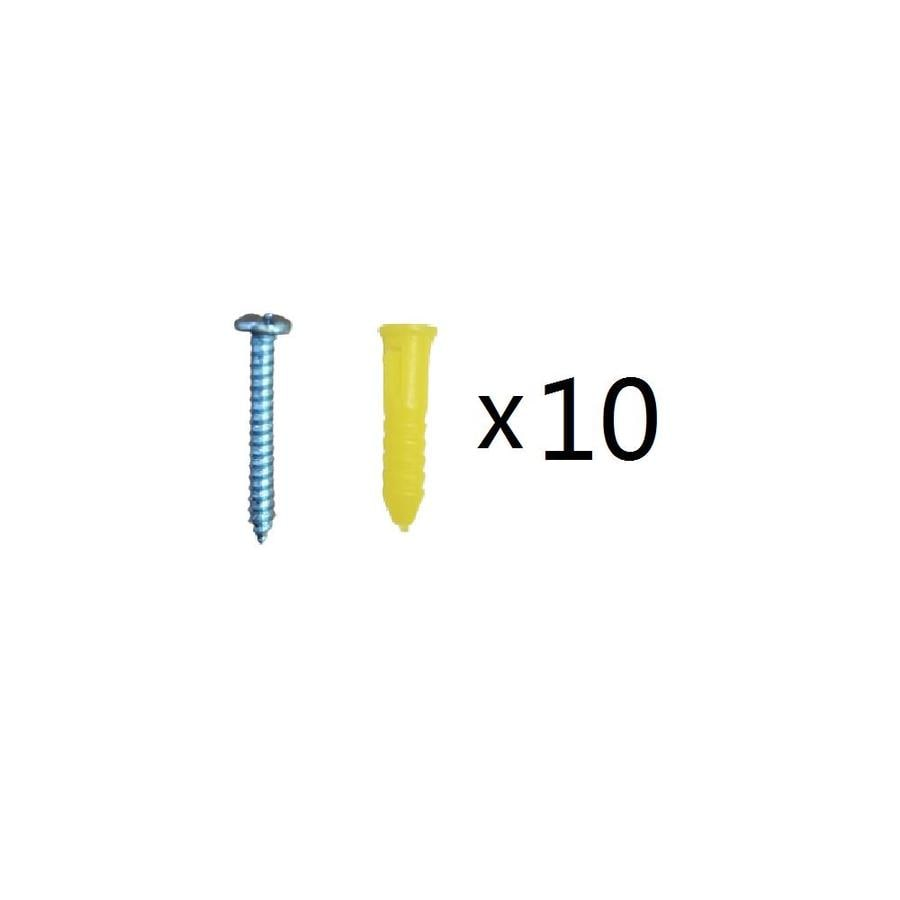 Blue Hawk 10-Pack 1-in x 0.138-in All-Purpose Anchors (Screws Included)