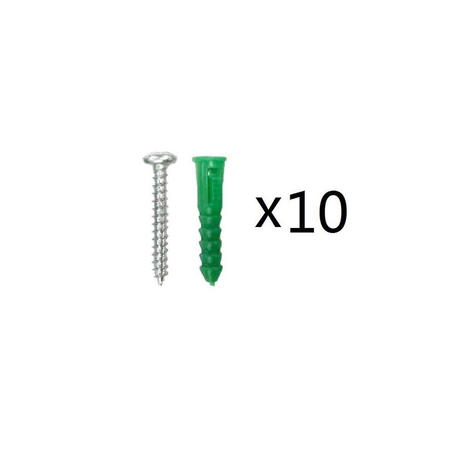 Blue Hawk 10-Pack 1.5-in x 0.216-in Green Steel Light-Duty All-Purpose Anchor with Screws