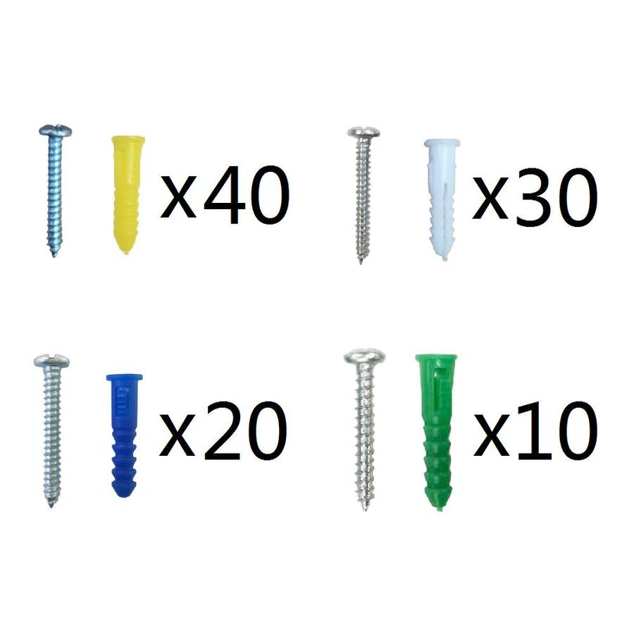 Blue Hawk 100-Pack 1.5-in x 0.216-in All-Purpose Anchors (Screws Included)