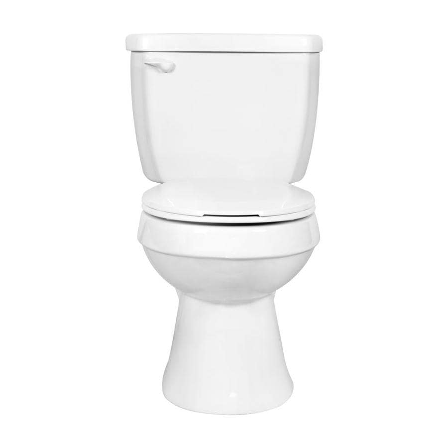 Project Source High-Efficiency 1.28 White WaterSense Round Standard Height 2-Piece Toilet