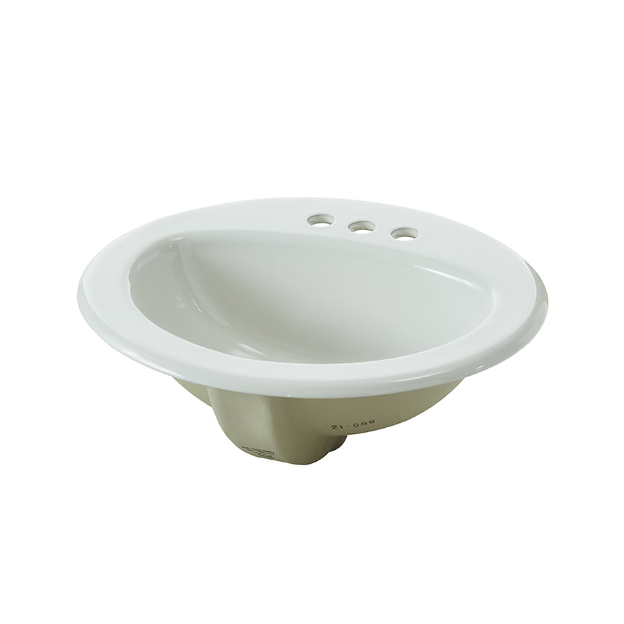 Shop Bathroom Sinks At Lowescom - Oval bathroom sinks drop in for bathroom decor ideas