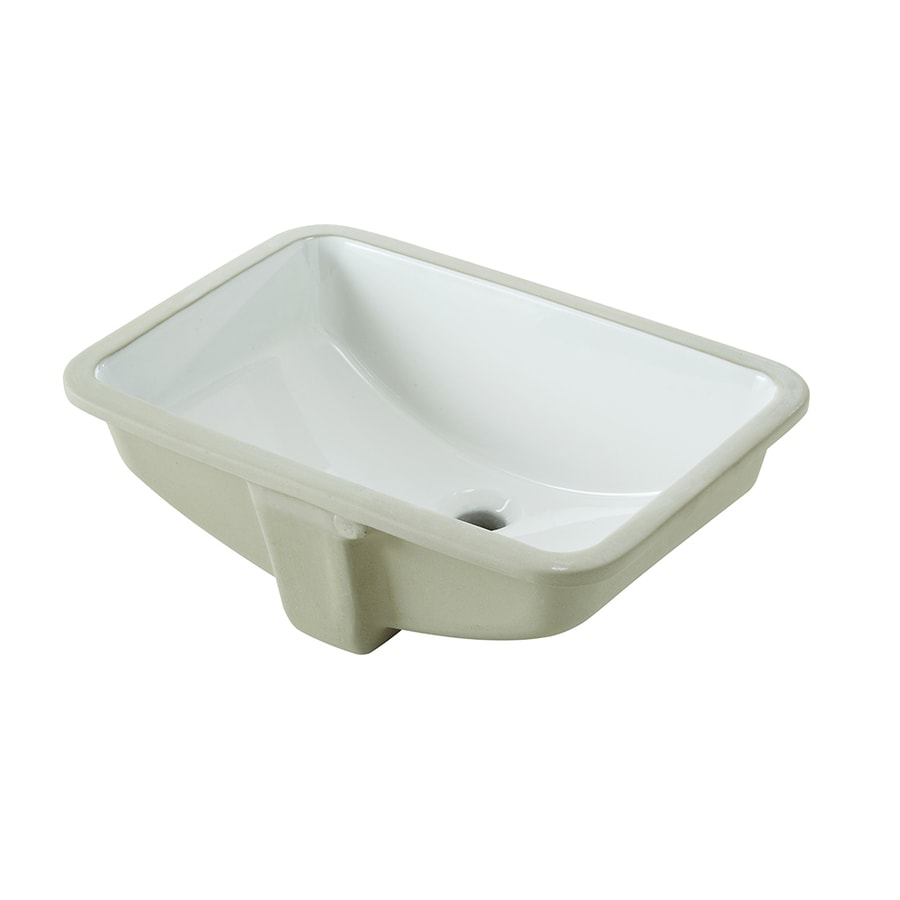 Shop Aquasource White Undermount Rectangular Bathroom Sink