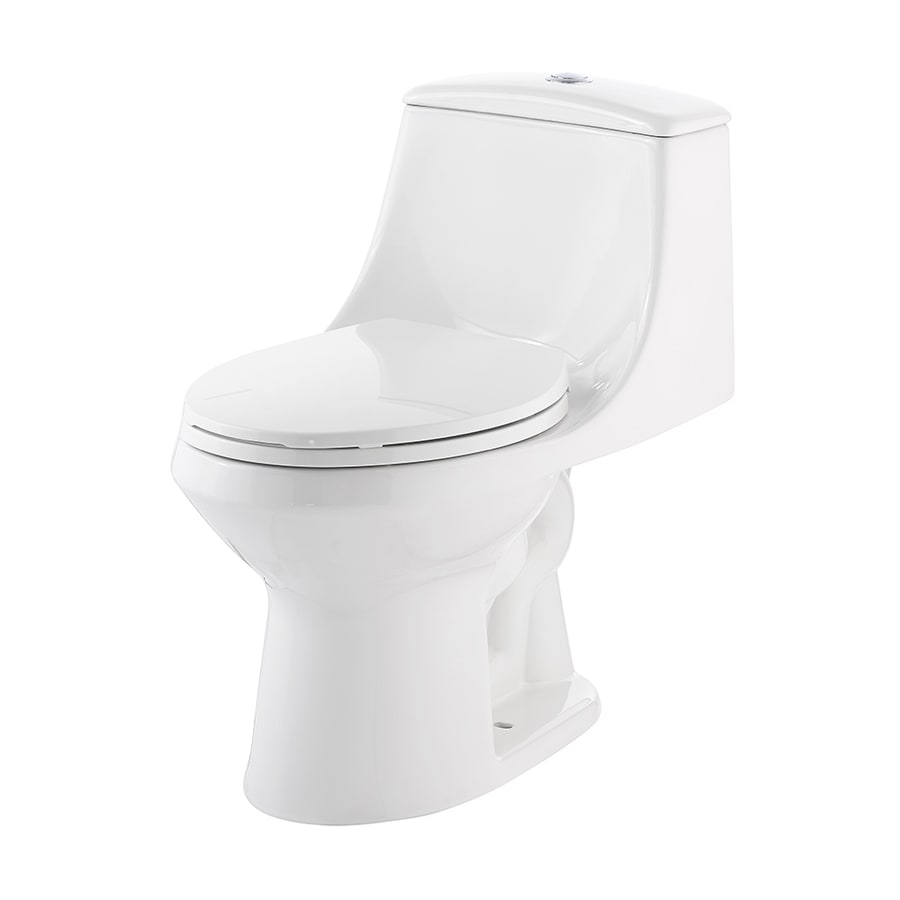 Jacuzzi Primo White Watersense Labeled Dual Flush Elongated Chair Height 1 Piece Toilet 12