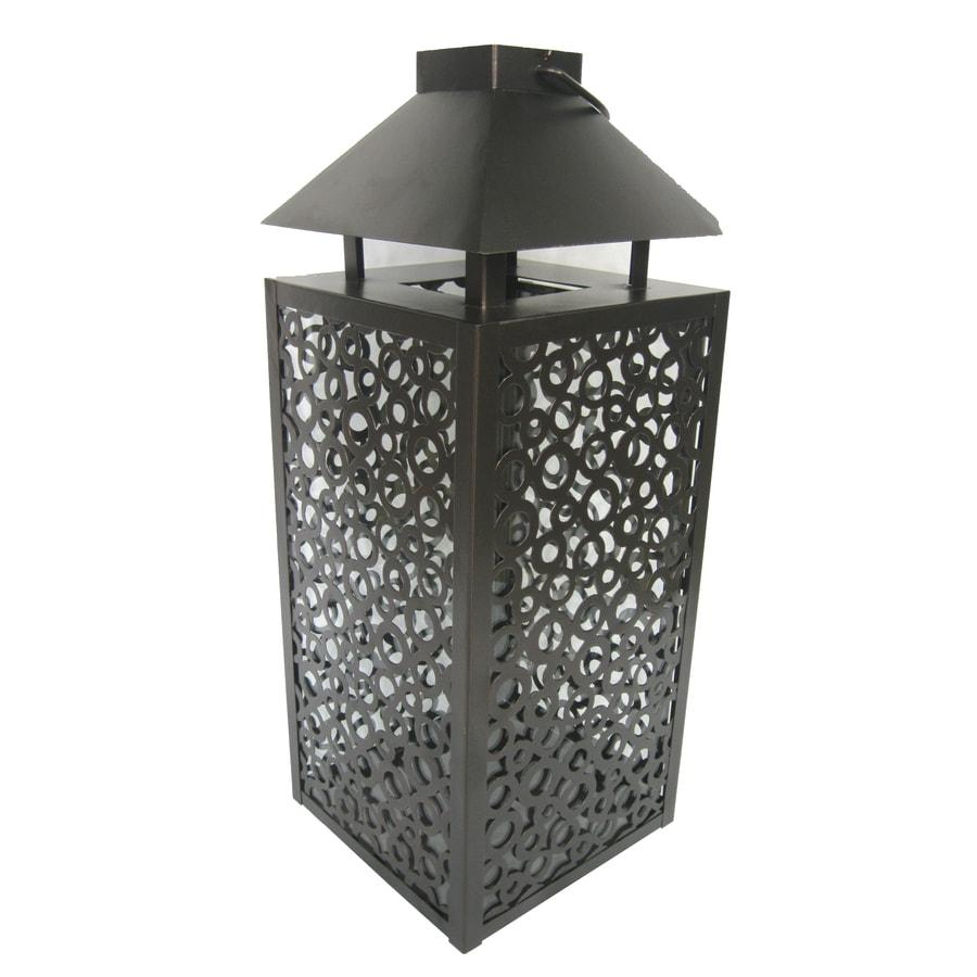allen + roth 22.8-in H Bronze Metal Outdoor Decorative Lantern