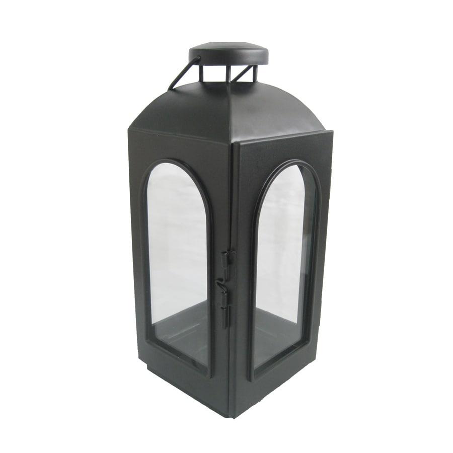 allen + roth 11-in H Black Metal Votive Candle Outdoor Decorative Lantern
