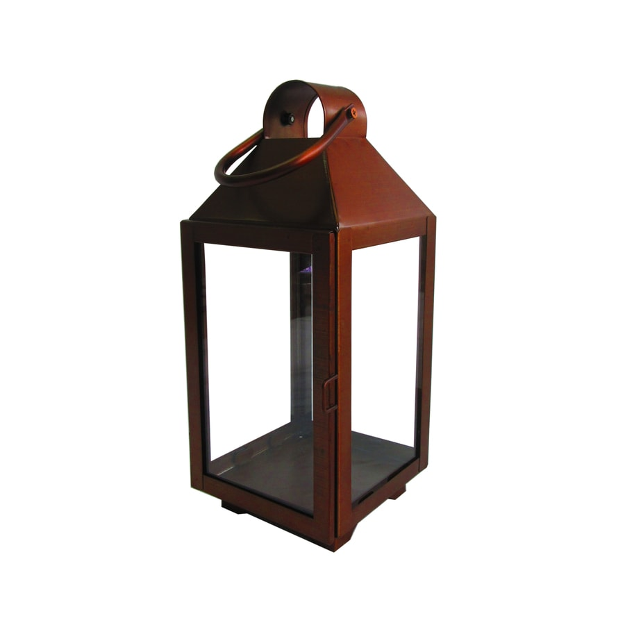 allen roth 551in x 1319in copper metal votive candle outdoor decorative - Outdoor Candle Lanterns